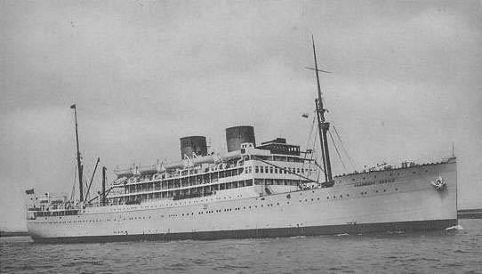 Llangibby Castle British Troop Transport Ships Hit By German U