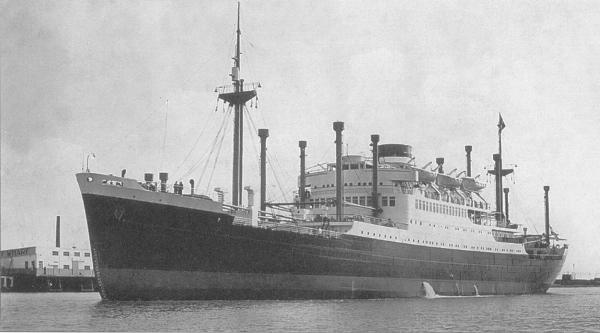Zaandam Dutch Motor Passenger Ship Ships Hit By German Uboats - Zaandam ship