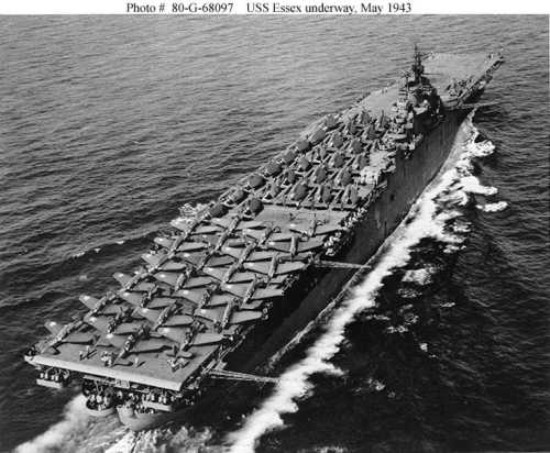 uss essex  cv 9  of the us navy