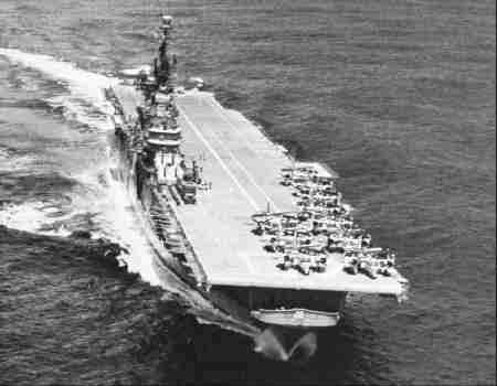 USS Tarawa (CV 40) of the US Navy - American Aircraft carrier of the