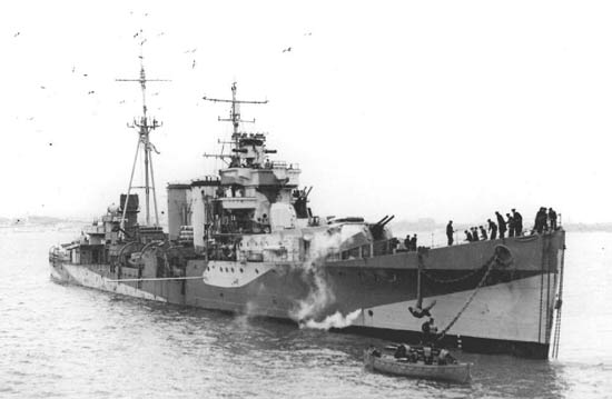 Us Maps Navy >> HMS Colombo (D 89) of the Royal Navy - British Light cruiser of the Carlisle class - Allied ...