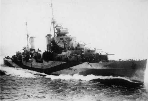 HMS Sirius (82) of the Royal Navy - British Light cruiser of the