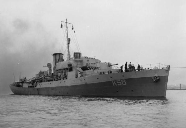 hms asphodel k 56 of the royal navy british corvette of the