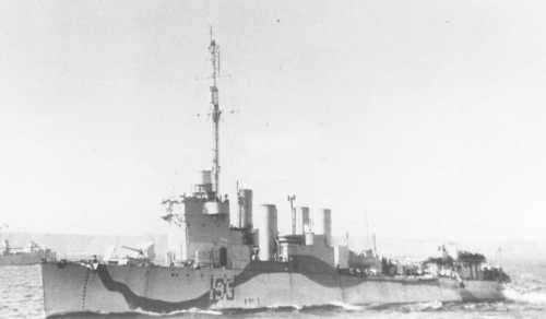HMS Wells (I 95) of the Royal Navy - British Destroyer of the Town