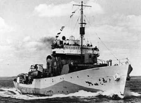 HMCS Regina (K 234) (Canadian Corvette) - Ships hit by
