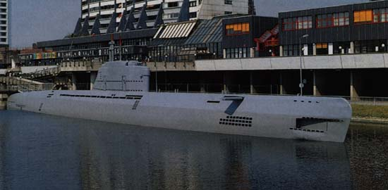 the former type xxi boat u-2540, now a museum at bremerhaven