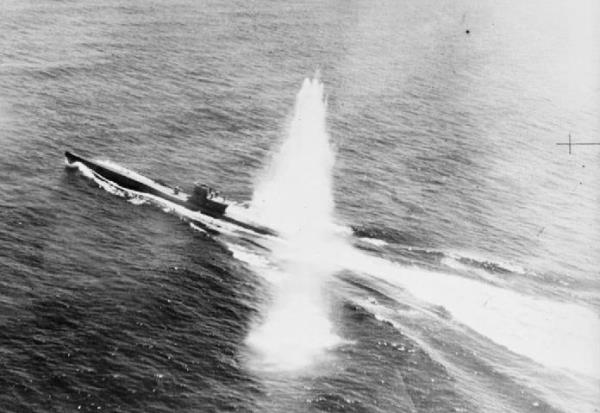 U 755 Already Damaged From Another Air Two Days Previously Suffers A Direct Hit From A Rocket Projectile And Sinks Within Nine Minutes