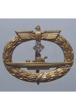 U-boat War Badge with Diamonds